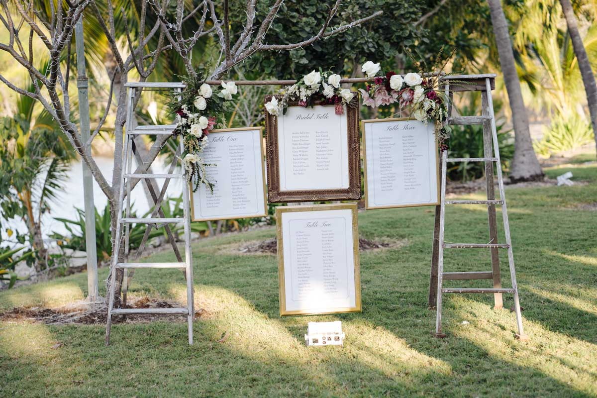 Wedding reception guest seating plan